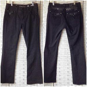 Miss Me Black Griffith Park Boot Leg Jean JE5146BX